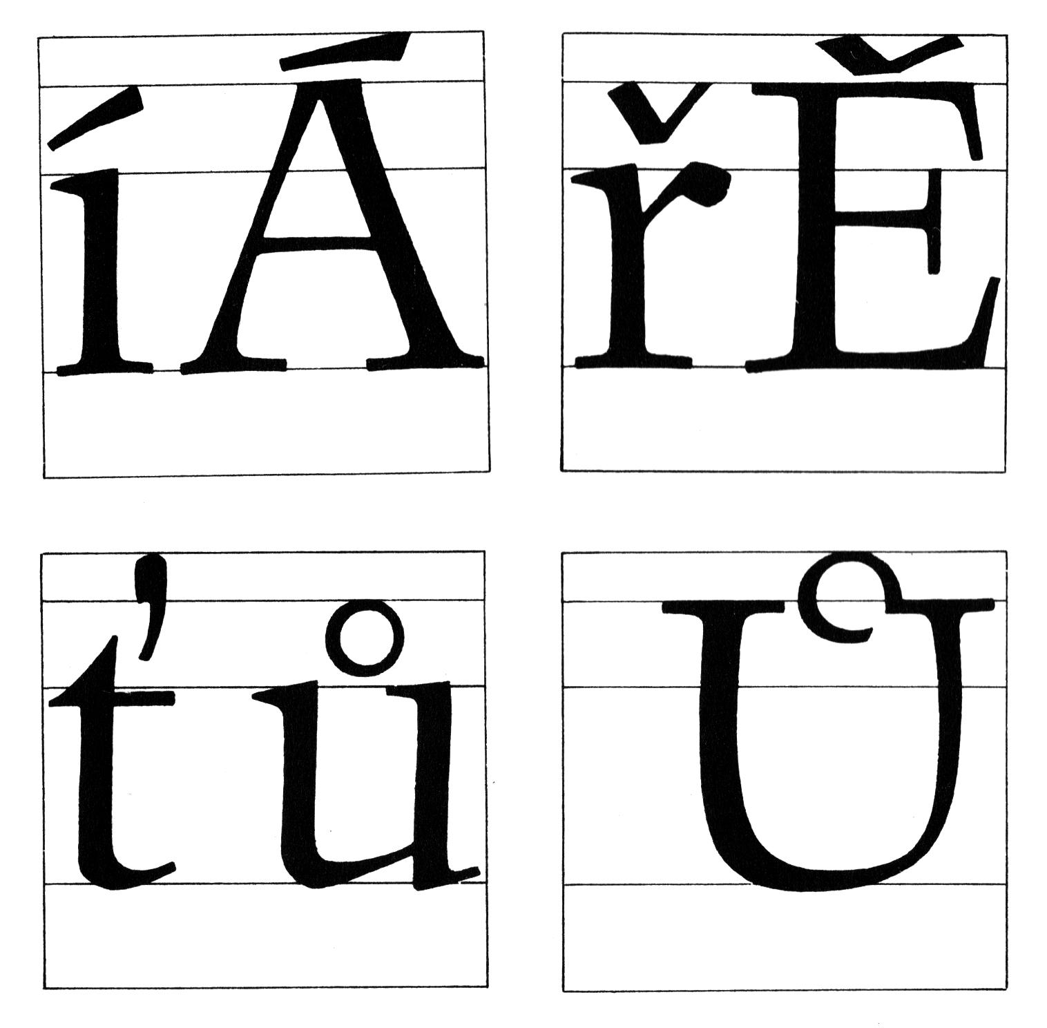 Czech diacritics