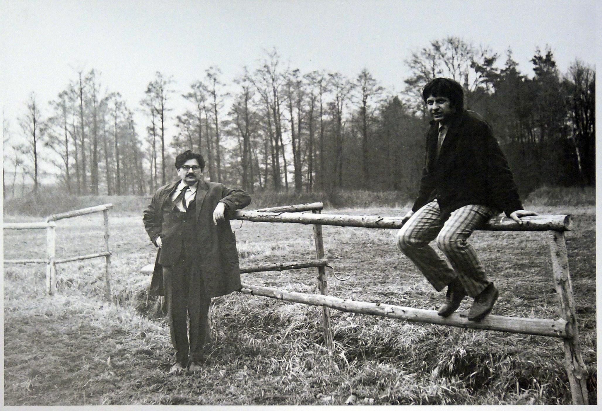 Ludvík Vaculík and Ivan Klíma at Josef Zeman's in Bezejovice. Photograph © Josef Zeman