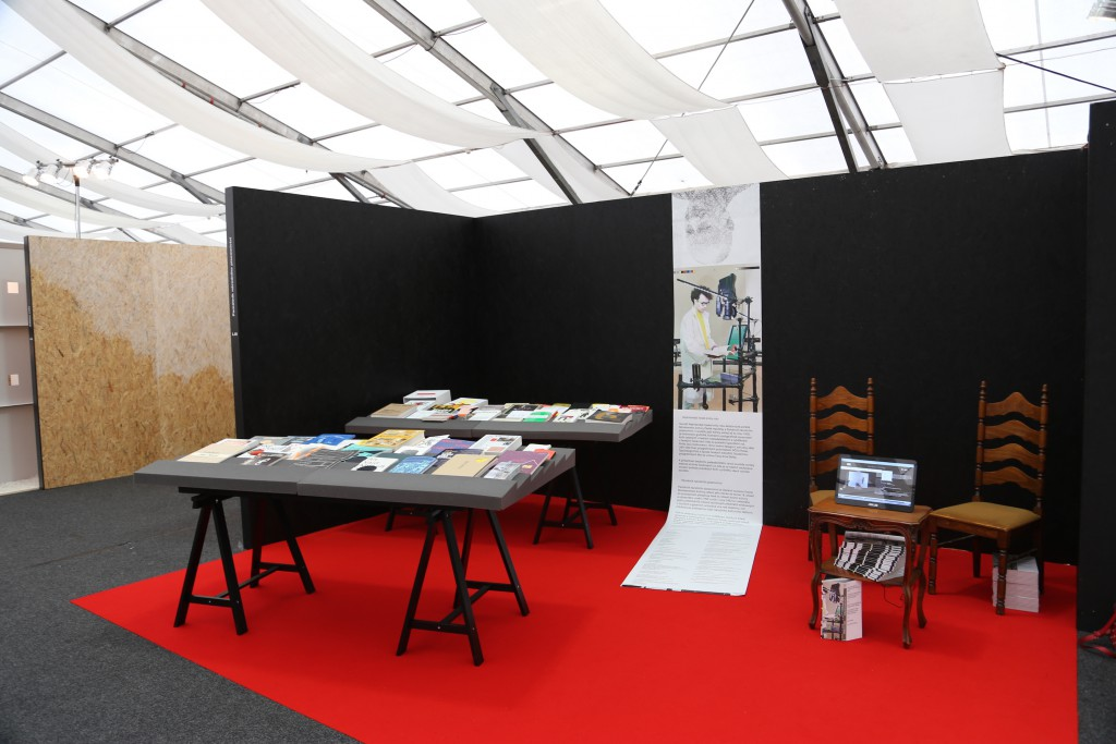 The Most Beautiful Czech Book of the Year stand at Designblok