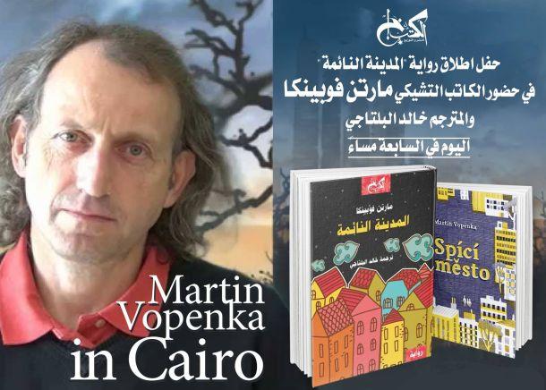 Upoutávka na čtení Martina Vopěnky v Káhiře.