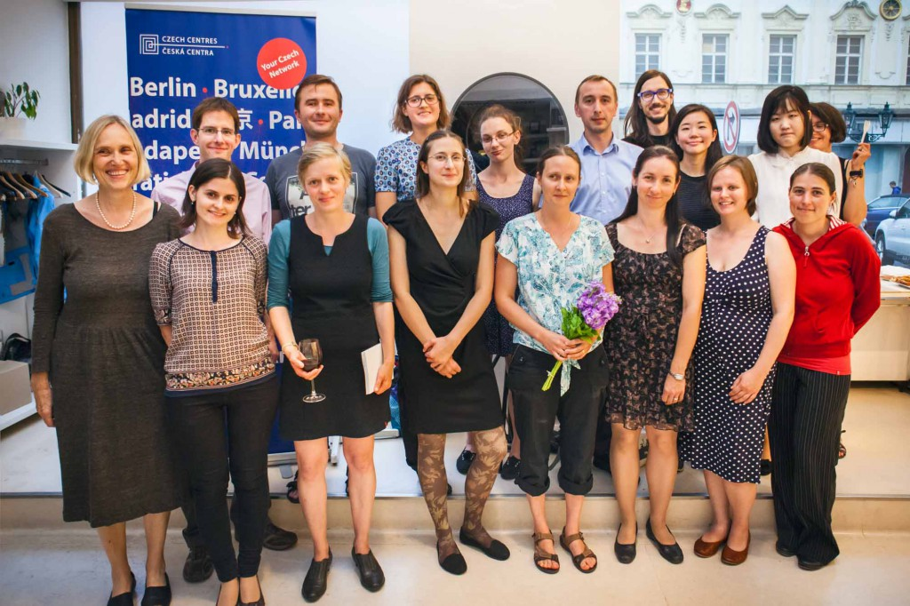 The winners, author and organisers in the Czech Centre. Photo: Anna Pleslova.