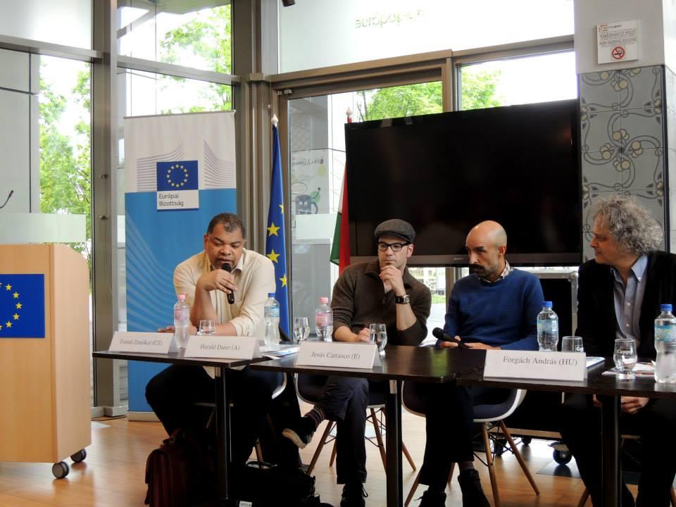 Tomáš Zmeškal vystoupil v rámci 21. ročníku Mezinárodního festivalu knihy v Budapešti. Foto: Jaroslav Balvín.