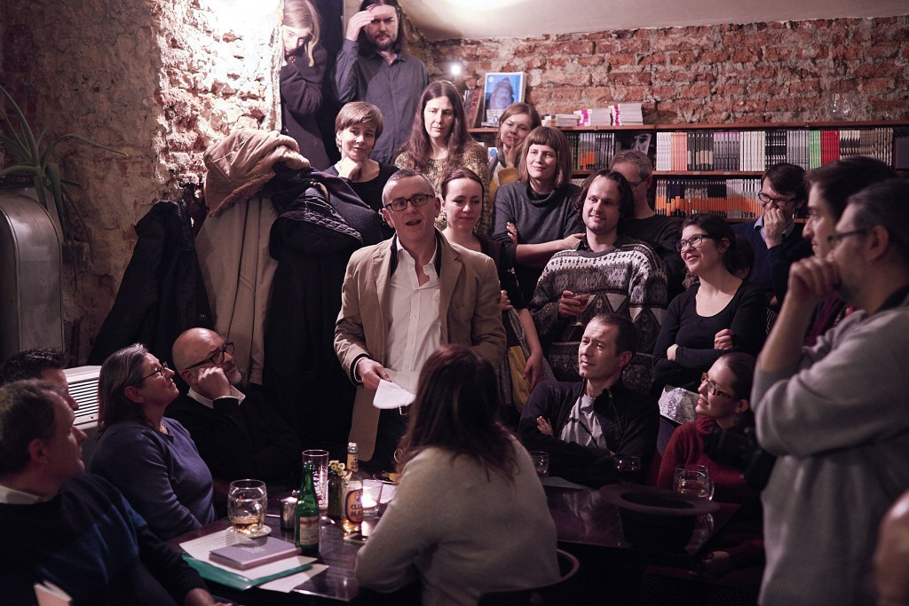 A reading at café Fra. Photograph: Ondřej Lipár/Fra.