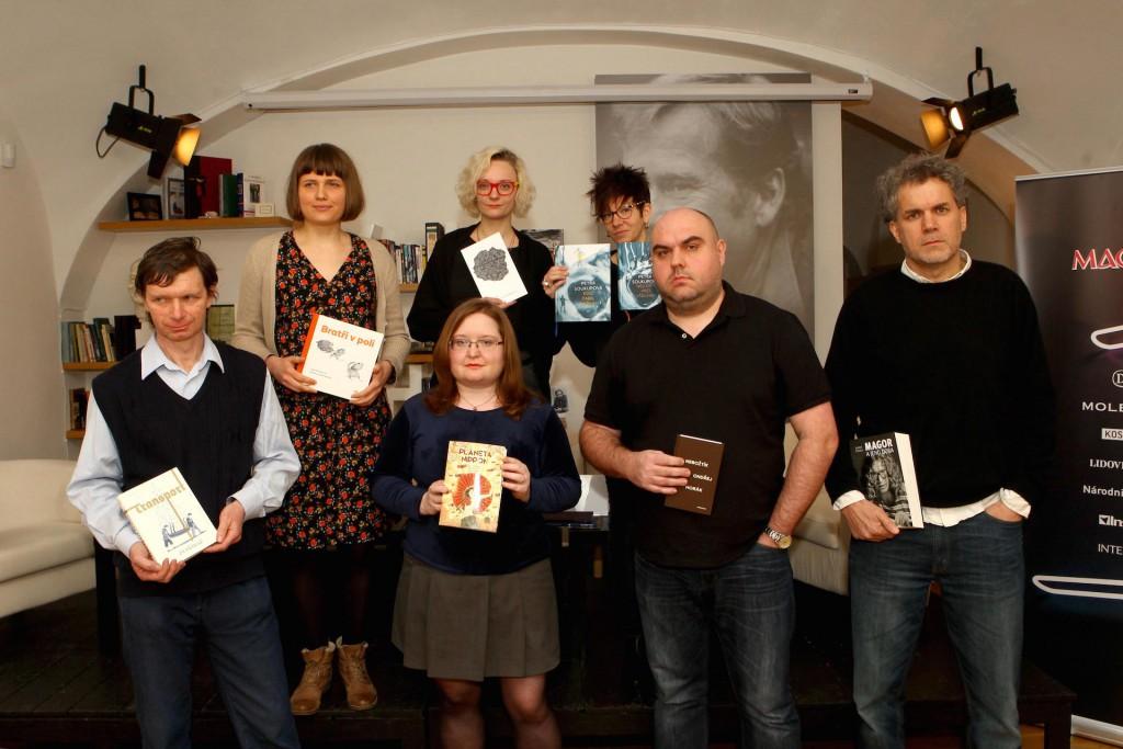 Část nominovaných autorů na knižní ceny Magnesia Litera. Foto: Archiv spolku Litera