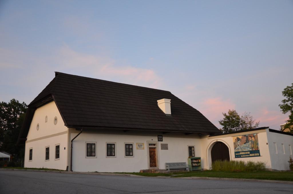 Památník Adalberta Stiftera v jeho rodném domě v Horní Plané.
